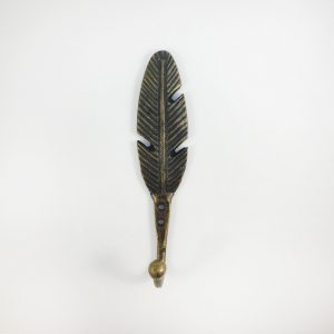 Antique Gold Feather Wall Hook