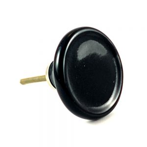 Black Ceramic Disc Knob