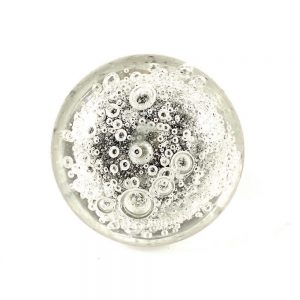 Solid Clear Bubbled Glass Knob