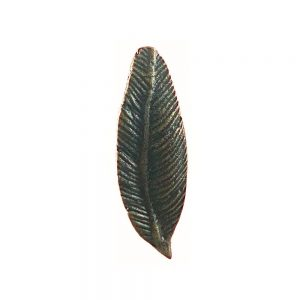 Antique Gold Iron Feather Knob